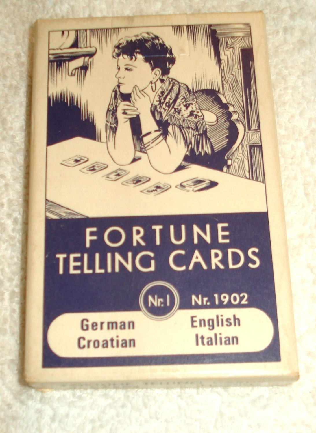 Vintage Gypsy Fortune Telling Cards Nr. 1 Nr. by SubRosaMagick
