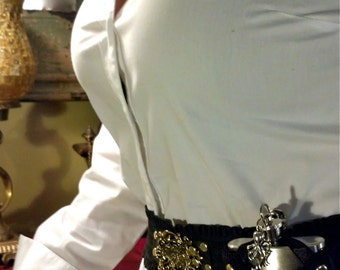 Steampunk utility belt with flask in corset holster.  Made to order for any size. LIMITED TIME ONLY!!!