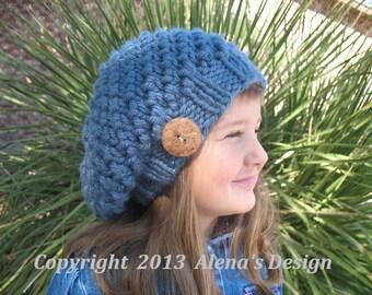 Knitting Pattern 094 - Hat Knitting Pattern - Knitting Hat Pattern for Kate Slouchy Hat  - Toddler Child Teen Adult Girls Ladies Women Men