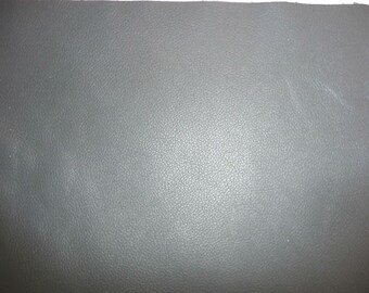 "Leather 8""x10"" DIVINE Medium Gray Top Grain Cowhide - 2.5 oz / 1 mm FULL hides available PeggySueAlso™ E2885-31"
