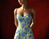 China Blue Floral summer dress for your Iplehouse SID bjd ladies