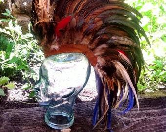 "Customizable Feather Mohawk / Headdress - ""Indian Warrior"""