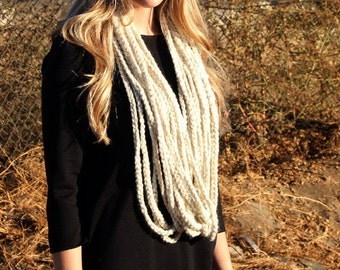 Crochet Pattern - Easy - Braided Infinity Scarf pattern