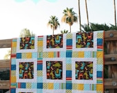 Modern Quilt Pattern - Sawyer's Tracks an Easy and Modern Patchwork Quilt Pattern