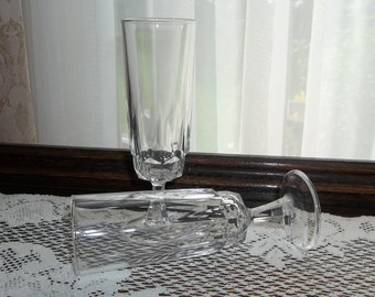 18 Pairs Available 1 Pair of Wedding Wine Champagne Glasses (2) Cris D'Arques Arocroc Glass Flutes