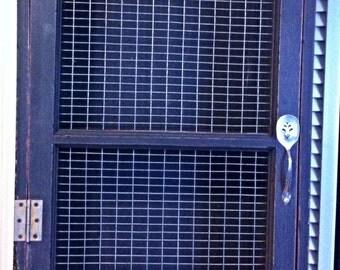 Window Cabinet Old Window Door Reclaimed Wood With Welded Rabbit Wire Front