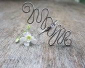 Wire Wrapped Ring, Boho Girl, Gyspy Girl, Long Ring, Stainless Steel, Spiral Ring, Statement Ring