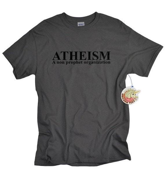 Atheism shirt A non prophet organization religion atheist tshirt guys funny science agnostic style shirt birthday gift