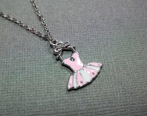 Ballerina Necklace Ballet Little Girl Necklace Christmas Gift Friendship Gift Jewelry Ballet Necklace Dance Necklace Pink Necklace