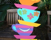 Oversized Tea Cups - Alice in Wonderland Event Prop & Art Decoration