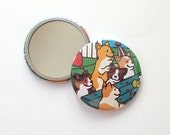 Corgi Birthday Party Pocket Mirror