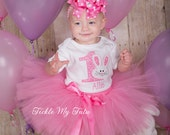 Pink Little Bunny Birthday Tutu Outfit, Some BUNNY is One (Any Number) Birthday Tutu Set, Bunny Birthday Tutu Outfit *Bow NOT Included*