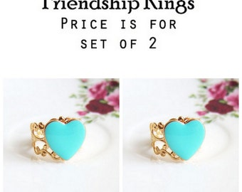 Bridesmaid Ring, Gift, Friendship Ring, Sisters Ring, Prom Night Party Christmas, Best Friend Ring, Heart Ring, Mother Daughter, Grandmother
