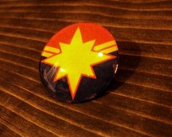 Captain Marvel Glass Pin