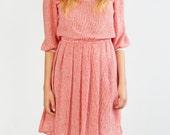 Light red preppy dress