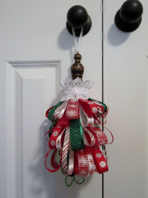 Sale clearance christmas ribbon large tassel ornament home for Christmas ornament sale clearance
