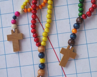 Kids Rosary Colorful Wooden Beads