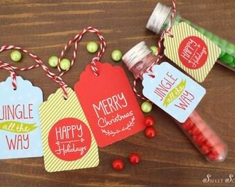 CHRISTMAS Printable Gift Tags - Jingle All The Way Design