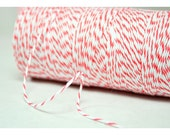 SALE - Coral Bakers Twine - 10 Yards. Coral Baby Shower, Coral Wedding.  Coral Craft Supplies.