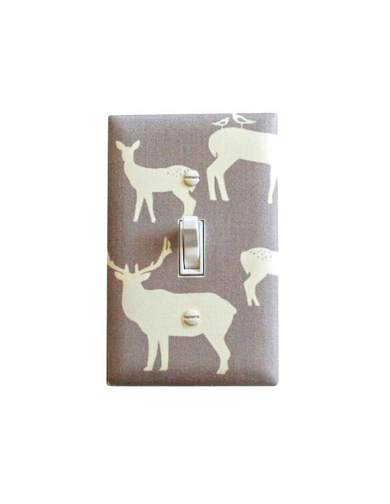 elk deer light switch plate cover baby boy girl by