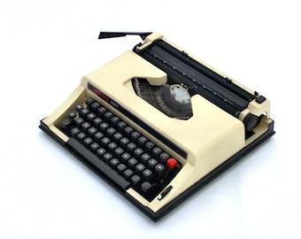 Vintage Manual Typewriter, Beige typewriter, Privileg 150T from Europe, Traveller Typewriter, Office Home Decor, Portable Working Typewriter
