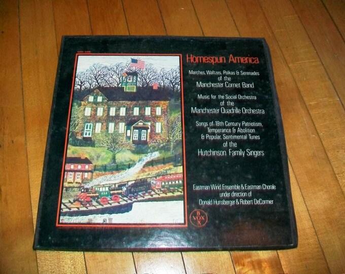 Homespun America 3 Record Albums Set Marches Waltzes Polkas Serenades SVBX 5309