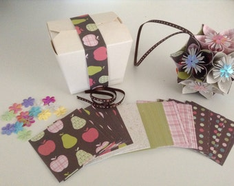2 Kusudama Flower Ball Kits DIY- Elegant Apples Origami Favor
