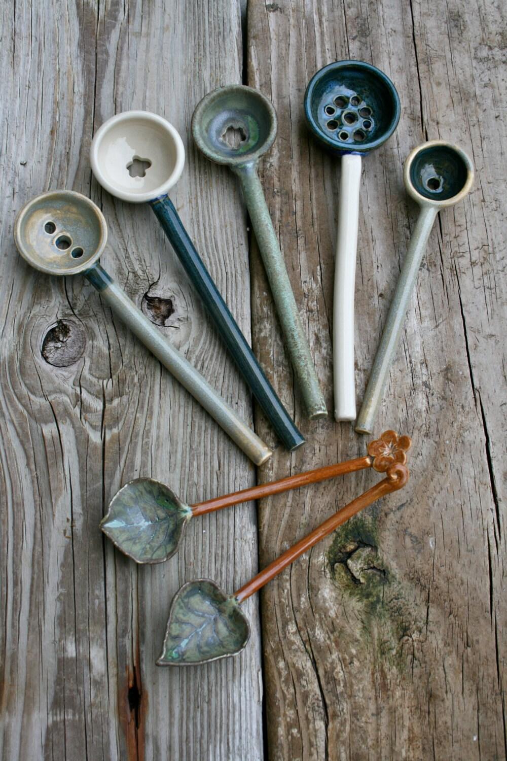 Ceramic Olive Spoon