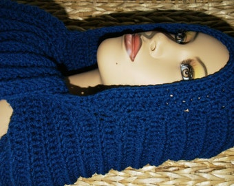 Crochet Hooded Scarf - Scoodie