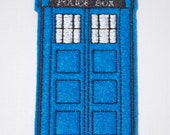 Tardis - Dr. Who inspired Felt Machine Embroidered Embellishment