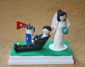 Cake Topper, Keepsake, Gift - Stop playing golf and lets get married
