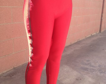 WHITE Spandex Pants with Zippers Size Medium