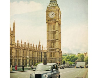 Big Ben, London, England. Travel photography, London landmark, London taxi cab, Westminster, River Thames,