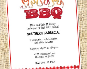 BBQ (Barbeque) Party Invitation