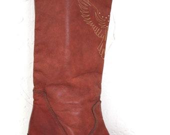 Vintage Leather Dingo Cowboy Boots