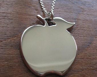 Handmade Apple Pendant Necklace