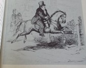 """Vintage book """"Vanity Fair"""" by William Makepeace Thackerary illustrated by the author"""
