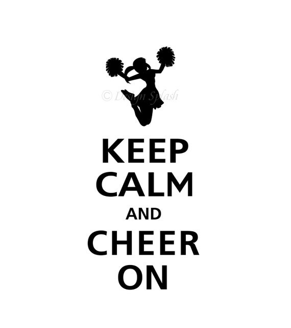 Keep Calm and CHEER ON Vinyl Wall Decal KC-107 by DesignSPLASH