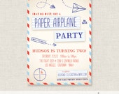 Paper Airplane Party - Birthday Invitation - PRINTABLE