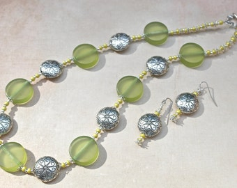 Necklace and Earrings Set - Summer's Last Hurrah