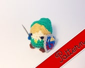 "PDF Pattern for Crocheted Nintendo's Legend of Zelda Link Kawaii Keychain Miniature Doll ""Pod People"""