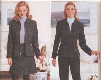 Modern Jacket, Skirt & Pants Pattern Butterick 4678 Sizes 6, 8, 10, 12 Uncut