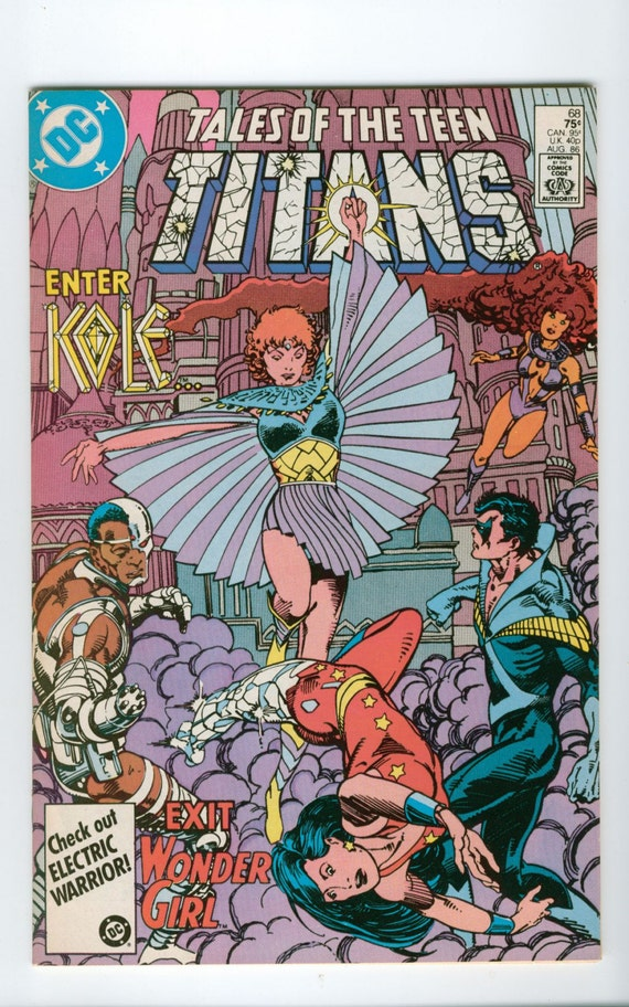 Vintage Tales Of The Teen Titans Comic Number 68 August 1986 DC Comics - Crystal Nightmare - Kole - Titans of Myth - Gods of Olympus