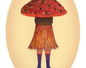 The Mushroom Princess - Art print