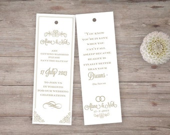 wedding save the date or favor vintage french style DIY print