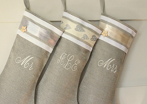 Personalized Christmas stocking Christmas stockings Burlap