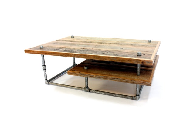 Items Similar To Reclaimed Wood Coffee Table Modern Industrial Table Rustic Barn Wood