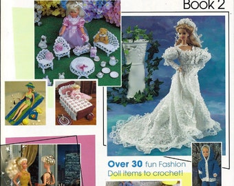 Fashion Doll Collection Book 2 Crochet Furniture and clothes Pattern Book Annies Attic 875563