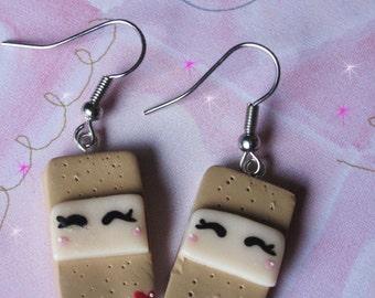 Kawaii Band Aid Earrings Polymer Clay Jewelry Lolita Asian Fashion Accessories Nurses Doctors Medical Jewelry Free Shipping USA