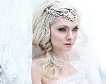 My Dazzling Kate headband - Bohemian halo with crystal flowers